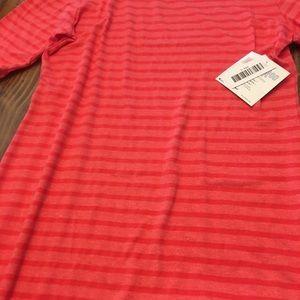 NWT Large LuLaRoe Julia Dress Red stripe