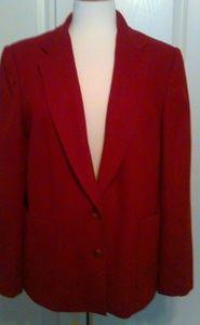 Jackets & Blazers - Cranberry wool jacket