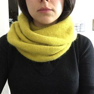 Mustard infinity tube scarf