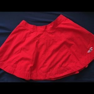 HOLLISTER Red Flare Mini Skirt Size Small