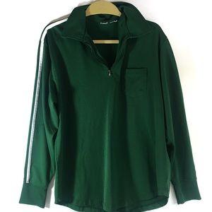Vintage green track jacket half-zip