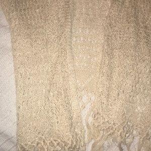 Brand New Crochet Boho Flowy Cardigan in Cream