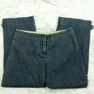 Cabi Jeans Relaxed Embroidered Capris Size 2