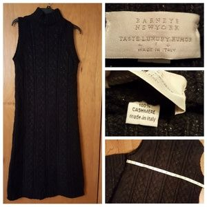 Taste luxury humor cable knit cashmere dress.