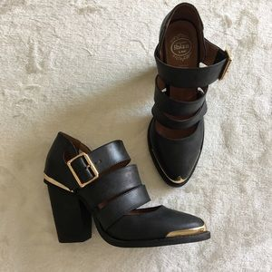 Jeffrey Campbell Bethany Strap Booties EUC