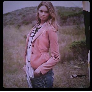 J.crew peach velvet jacket!! Size 2