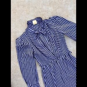 Byer Too purple/black striped dress