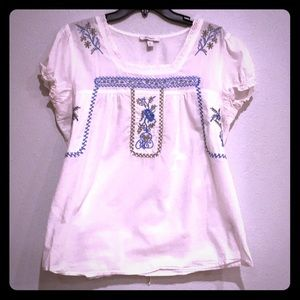 Dress Barn Blouse with embroidery on front