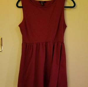 Maroon Cotton dress