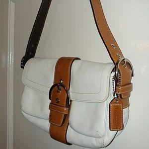 Coach Soho white leather handbag