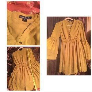 Double zero mustard color dress