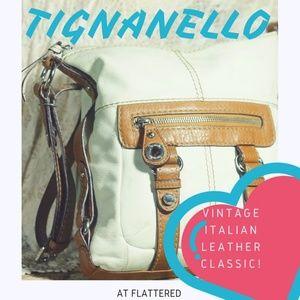 TIGNANELLO LEATHER PURSE BAG VINTAGE CLASSIC Hobo