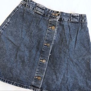 VIntage GUESS Denim Button Skirt High Waisted