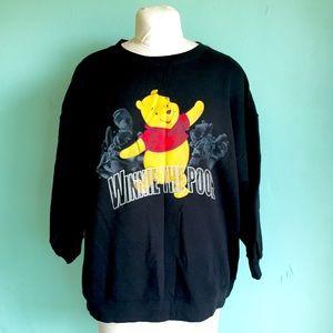 Vintage Disney Winnie the Pooh Black Sweater