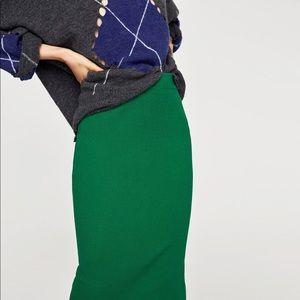 Zara Ribbed Knitted Midi Skirt