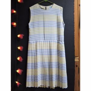 Vintage Wallis (UK) Pleated Summer Dress