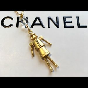 "Chanel CoCo Figural Necklace Hallmarked ""Chanel"""