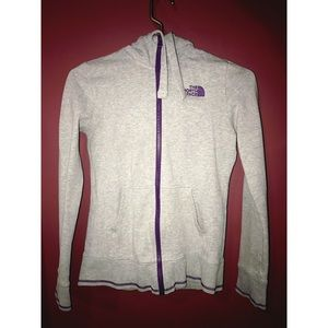 Gray north face sweater