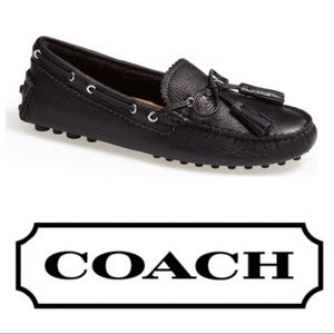 New! Coach 'Nadia' Leather Driving Loafers - Black