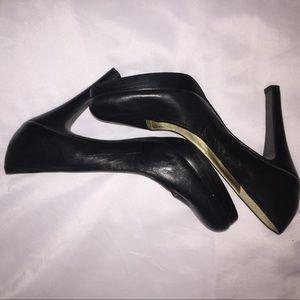 Leather Size 8 Jessica Simple Black Heels