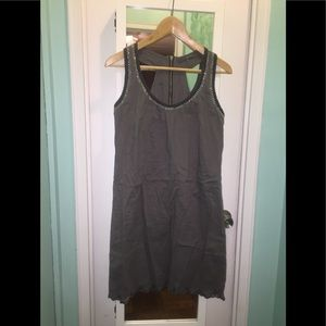 T-back tank dress with back zip