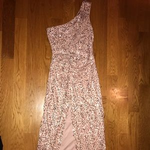 Sequin pink dress