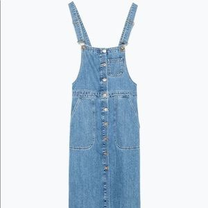 denim front bib dungarees dress