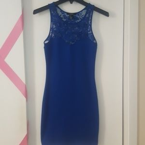 Cobalt Blue Lace Bodycon Dress
