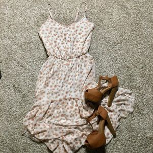 • FLORAL HIGH LOW DRESS •