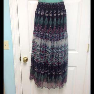 Beautiful long wide elastic waist skirt