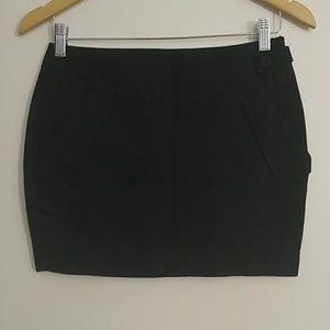 Korean Black Mini Skirt
