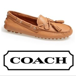 New! Coach 'Nadia' Leather Driving Loafers - Tan