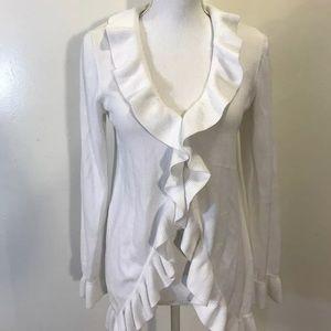 Women's Lilly Pulitzer Ruffle Cardigan Sweater