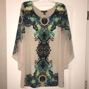 Patterned tunic, size XL