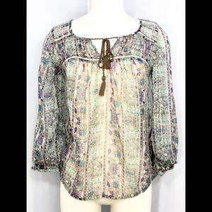 American Eagle Outfitters sheer blouse SZ S/P