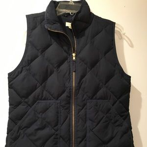 Navy J. Crew Factory Quilted Puffer Vest