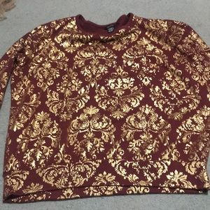 Gold/Burgundy Sweater