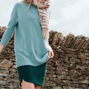 J. Crew Shirttail Wool Mini Skirt