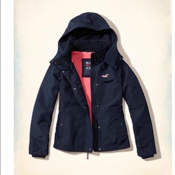 88458732e Hollister All weather jacket Women Navy Medium NWT