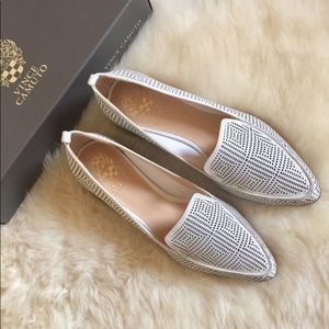 Vince Camuto Kandia Perforated Leather Flats