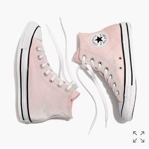 Light Pink Velvet Converse