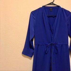 Ann Taylor Shirt Dress in Royal Blue