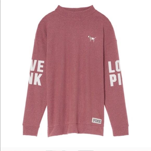 PINK Victoria's Secret - Victoria's Secret Pink mockneck Sweater ...