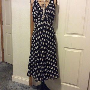 White House Black  Market  polka dress