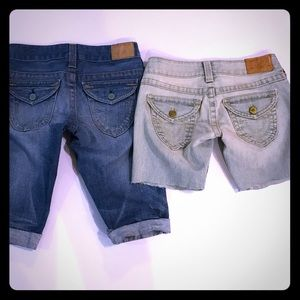 BUNDLE of two True Religion cut-off shorts