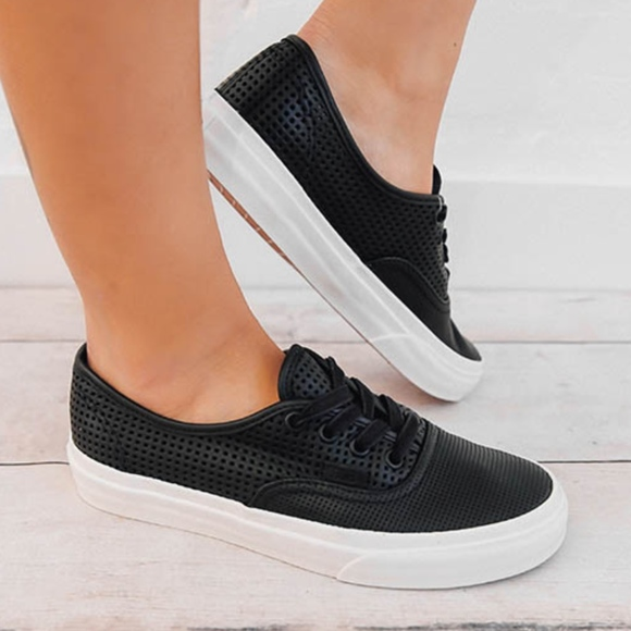 VANS Square Perf Authentic DX Black Sneaker d9d734776