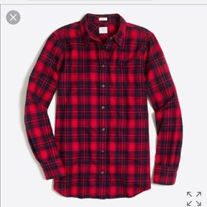 J. Crew Boy Fit Red Flannel Shirt Size Small