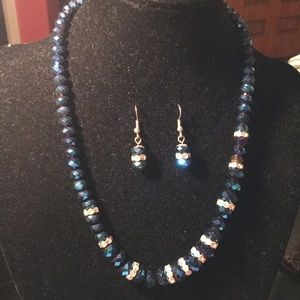 Crystal Necklace and earring