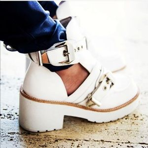 Jeffrey Campbell Coltrane All White Booties