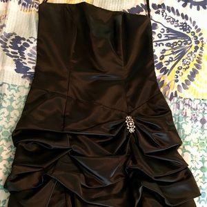 Black silky homecoming/prom dress
